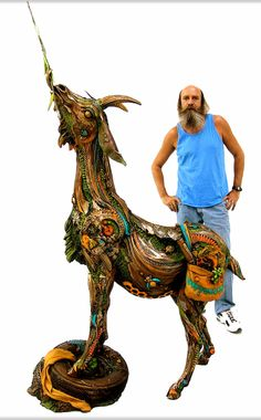 """Contact TABORA (808) 922-5400 """"ERIC the Traveling Goat"""", by Nano Lopez Life Size Bronze Edition Size: 16 Size: 6'7"""" x 4'7"""" x 1'9"""" . . . . . . . Mention that you saw it on our Pinterest page and receive FREE US Shipping!    #art #sculpture #goat"""