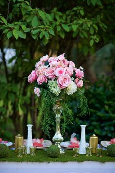 Use high-quality silk flowers and glass containers for your wedding.  Find mercury glass, heirloom vases and luscious pink roses at affordable prices.