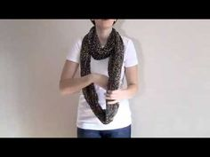 How to tie a scarf:  The Infinity Wrap