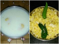 Navaratri day - 4 - Aval / Beaten Rice Flakes Payasam & Moong Dal Sundal!  Ingredients:  Aval Payasam:  Beaten Rice Flakes / Aval - 1/2 cup ...