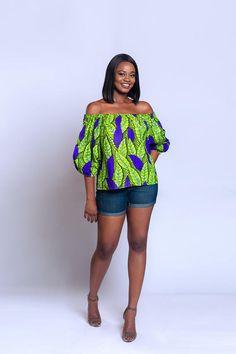 Off-shoulder Ankara off-shoulder African print Off-shoulder