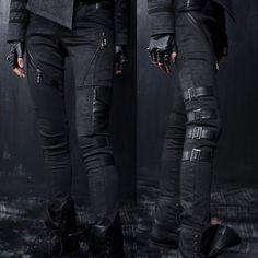 Black Alternative Punk Rock Scene Clothing Pants Leggings for Women