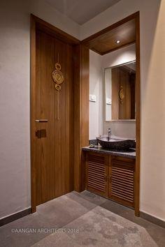 OWN HOUSE – Aangan Architects Home Design Floor Plans, Home Room Design, House Design, Indian Home Design, Indian Home Interior, Ethnic Home Decor, Indian Home Decor, Apartment Interior Design, Bathroom Interior Design