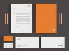 Logo and stationery design for Vertikal, a lecture hall based in an aeroclub in Russia that will host lectures from various areas of knowledge: technology, helicopters, GTD, web, biomedicine, and other.