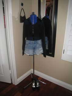 Sheer black shirt over cutoffs for that beach night out.