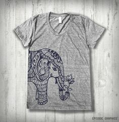 Ethnic Elephant print Tri  blend American by EpisodeGraphics, $18.00