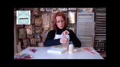 Paper napkin mod podge techniques for a pretty cool 3D effect!