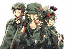 Happy Tree Friends - Flippy, Mouse Ka-Boom, and Sneaky Htf Anime, Anime Art, Happy Tree Friends Flippy, Three Best Friends, Friend Anime, Free Friends, Hot Anime Guys, Anime Boys, Manga Boy