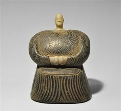 Bactrian Style Stone and Alabaster Idol