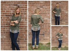 Love this top!!!  Meet Ashley from And our Story Continues! She is wearing her new Stitch Fix Layered Top.