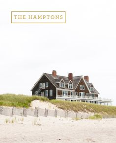 The Hamptons. I once remember having a bonfire close to a house like this. I don't think it was this house though. Coastal Homes, Coastal Living, Coastal Style, Beach Homes, Ideas Terraza, Dream Beach Houses, Nantucket, Beach Cottages, My Dream Home