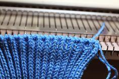 TOM MACHINE KNITTING GUY: Beautiful & Neat Ribber Cast On with waste yarn