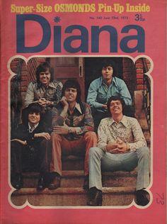 Diana Magazine No 540 23 June 1973 The Osmonds Ben Thomas David Cassidy Mud Pop Magazine, Osmond Family, The Osmonds, Donny Osmond, David Cassidy, I Remember When, Puppy Love, Diana, Pin Up
