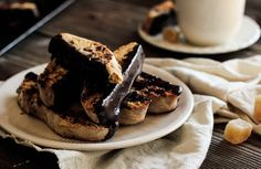 Chocolate Candied Ginger Biscotti from @kelly frazier accidentally Affair