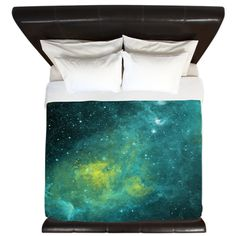 This duvet cover is out of this world lovely! The colors are rich and deep. This lovely galaxy design is professionally printed on quality fabric. Each duvet cover is a custom order. We have partnered