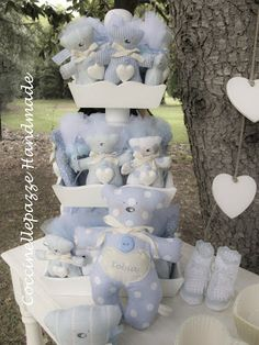LE MIE BOMBONIERE Baby Shower Favours, Baptism Favors, Baby Boy Sprinkle, Baby Event, Party Giveaways, Lavender Bags, Boy Baptism, Baby Time, Baby Crafts
