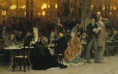 Ilya Yefimovich Repin - Paris Cafe, 1875