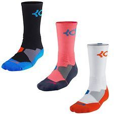 6d99a4f8c310 Nike KD Hyper Elite Crew Dri-Fit Cushioned Basketball 3M Kevin Durant Mens  Socks Nike