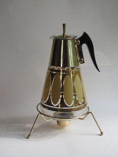 Vintage Art Deco Glass Coffee Carafe