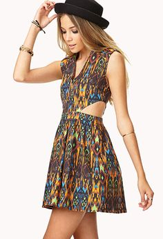 Neon Sweet Fit & Flare Dress | FOREVER 21 - 2000074922