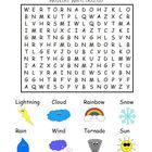 Use+this+Word+Search+puzzle+during+your+weather+unit!+Comes+in+color+and+BW!  Perfect+for+K-1st+grade!  Check+out+my+other+WEATHER+activities:  Wea...