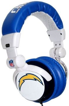 Ihip Nfh22sdc Nfl San Diego Chargers Dj Style Headphones