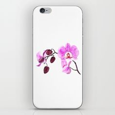 Skins are thin, easy-to-remove, vinyl decals for customizing your device. Skins are made from a patented material that eliminates air bubbles and wrinkles for easy application. Free shipping today! Take it! #society6 #orchid #pink #purple #nature #watercolor #painting #flowers #iphonecase #ipodcase