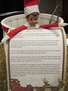 elf on the shelf good bye letter. Aww the last bit about lifting the magic for a quick good bye hug is so sweet!