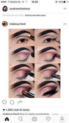 How to apply eyeshadow 😉 - makeup. Makeup Goals, Makeup Inspo, Makeup Inspiration, Makeup Tips, Beauty Makeup, How To Apply Eyeshadow, Eyeshadow Looks, Eyeshadow Makeup, Eyeshadows