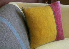 I can't believe sometimes how many amazing pillows there are out on the market. What's a girl to do? Check out these hand felted pillow all by Patty Benson. She's a designer living in california an...