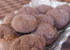 These Dark Chocolate Crackles are a cookie recipe that turns out rich chocolate cookies with a sugar coating.  Photograph included.