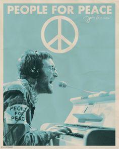 John Lennon People for Peace Mini-Poster