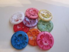 Children's new buttons. Assorted color and clear by JessEBees, $2.95