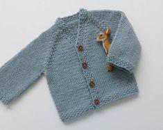 Chaqueta de bebé punto de cardigan merino baby knit cardigan | Etsy