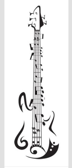 Guitar made out of music