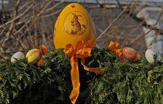Ach du dickes Ei, sagte der Osterhase ... ... beim Anblick dieses Prachteies. Nur gut, dass ich so ein großes Ei nicht legen muss. :-)  Gesehen auf dem Ostermarkt in Sankt Wendel.
