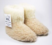 chaussons enfant laine naturelle de mouton fourré lainage semelle cuir babouche only mouton vrai naturelle pas cher vente boutique bébé âge 4 ans