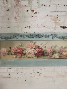 painted cottage chic shabby romantic christy rapasy rose canvas print hd