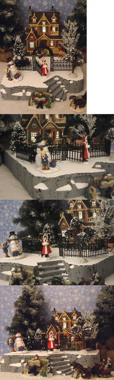 Christmas Collectible Department 56: Christmas Snow Village Display Add-On Platform Base Dept 56 Lemax B BUY IT NOW ONLY: $37.99