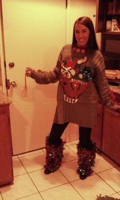 homemade ugly xmas sweater :)