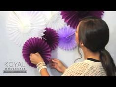 ▶ How To: Paper Pinwheels Backdrop for Weddings and Dessert Tables - YouTube