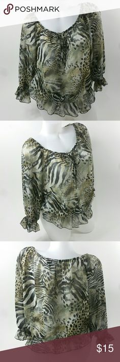 """Allison Taylor Women's Top Size Large Excellent Condition  Size Large  22"""" Length 22"""" Chest 17"""" Sleeve   Made in China  From a non smoking home  Fast Shipping Allison Taylor Tops"""