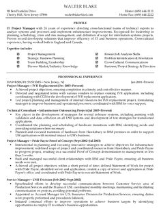 Sample Resume For Project Manager Project Manager Sample Resume  Sample Resumes  Sample Resumes .