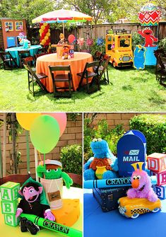 character props for parties | Funky & FUN Sesame Street Birthday Party // Hostess with the Mostess®