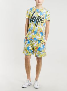 Photo 3 of Hype x The Simpsons family print T-shirt  T Shirt Vest a18e792411da