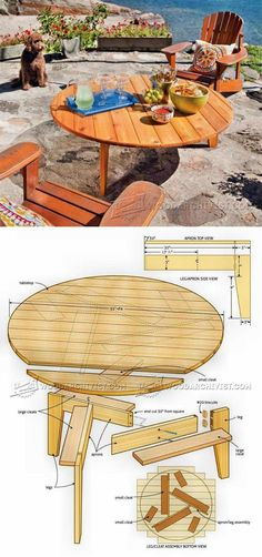 Outdoor Table Plans - Outdoor Furniture Plans and Projects | WoodArchivist.com