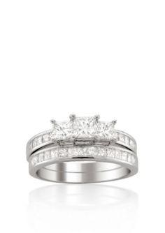 Belk  Co. White Gold 2 ct. t.w. Diamond Bridal Ring Set in 14k White Gold
