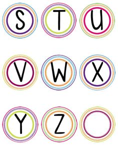 Word Wall Printable Letters S-Z for boggle Word Wall Letters, Bulletin Board Letters, Classroom Walls, Classroom Themes, Colorful Bulletin Boards, Free Printable Banner Letters, Alphabet Templates, Classroom Organisation, Clipart