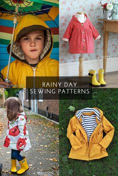 Rain Jacket and Poncho sewing patterns - a list of great rain jackets to sew!