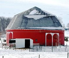 One of Indiana's round barns.